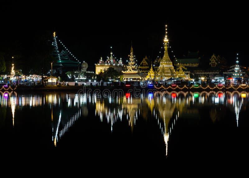 Wat Jong Klang e Wat Jong Kham foto de stock royalty free