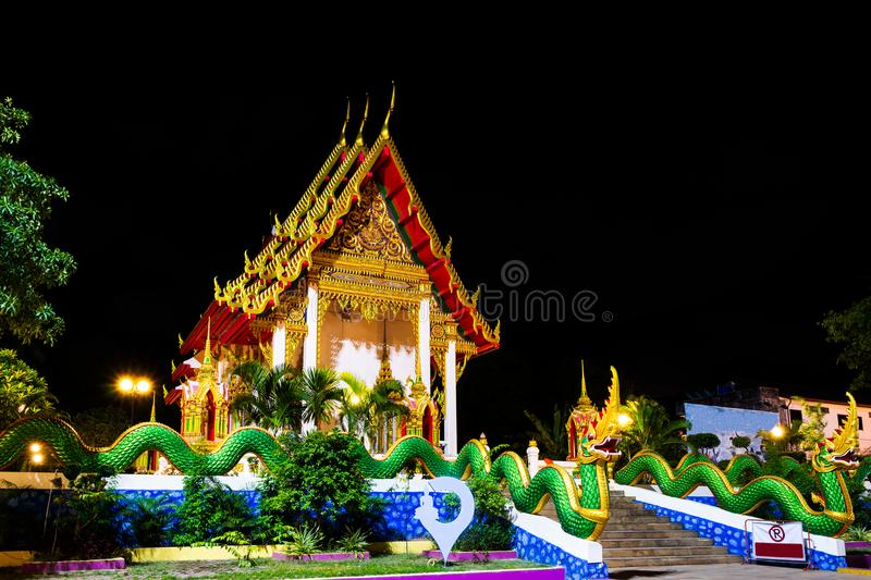 Wat Karon Temple. Is a budhist temple in Karon, Phuket, Thailand stock images