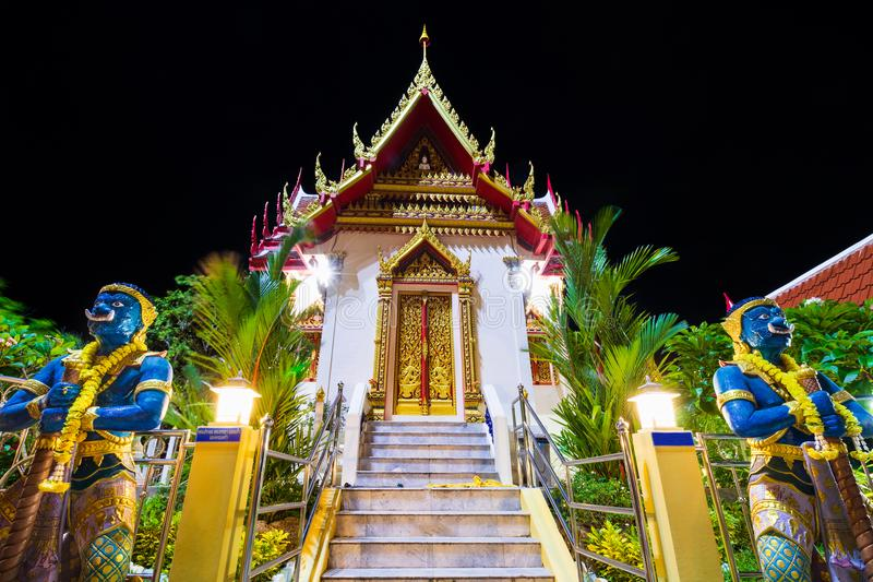 Wat Karon Temple. Is a budhist temple in Karon, Phuket, Thailand royalty free stock image