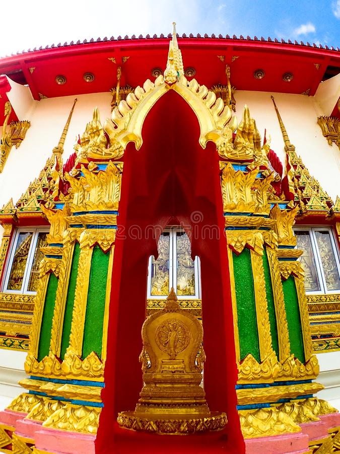 Wat Karon Temple destination scenic a popular tourist destination in Phuket Island Thailand Asia.  royalty free stock image