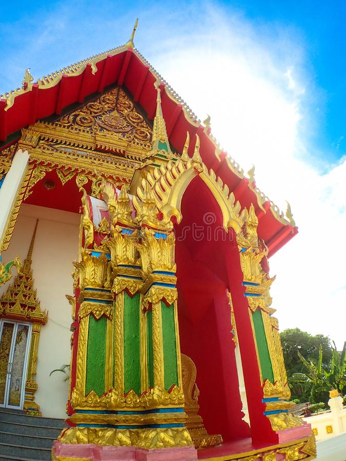 Wat Karon Temple destination scenic a popular tourist destination in Phuket Island Thailand Asia.  stock photography