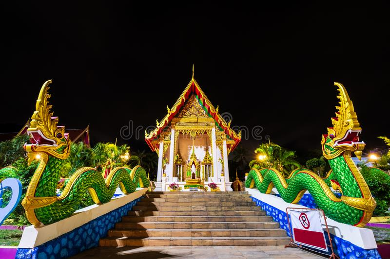 Wat Karon Temple. Is a budhist temple in Karon, Phuket, Thailand stock photo