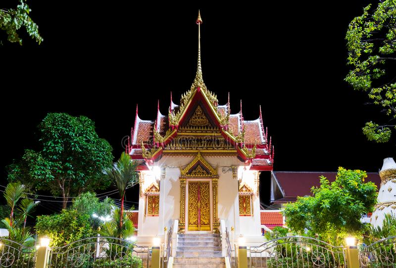 Wat Karon Temple. Is a budhist temple in Karon, Phuket, Thailand stock image