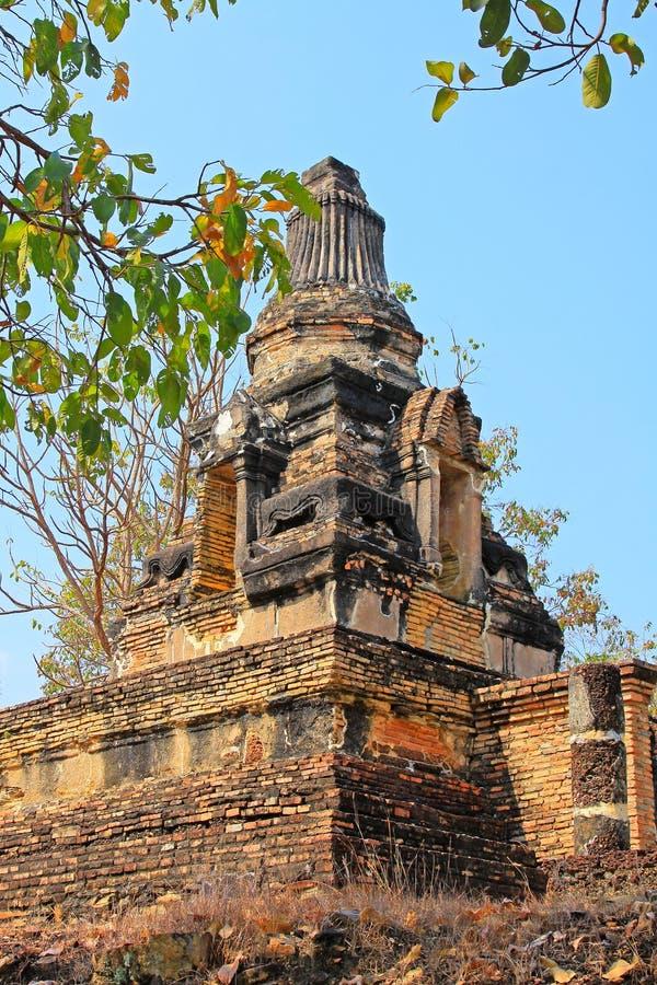 Wat Khao Phra Bat Noi, Sukhothai, Thaïlande photo libre de droits