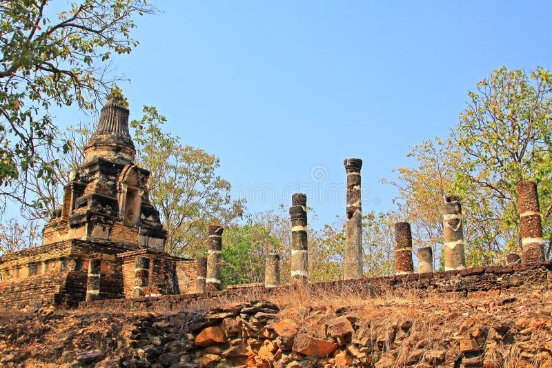 Wat Khao Phra Bat Noi, Sukhothai, Thaïlande image libre de droits