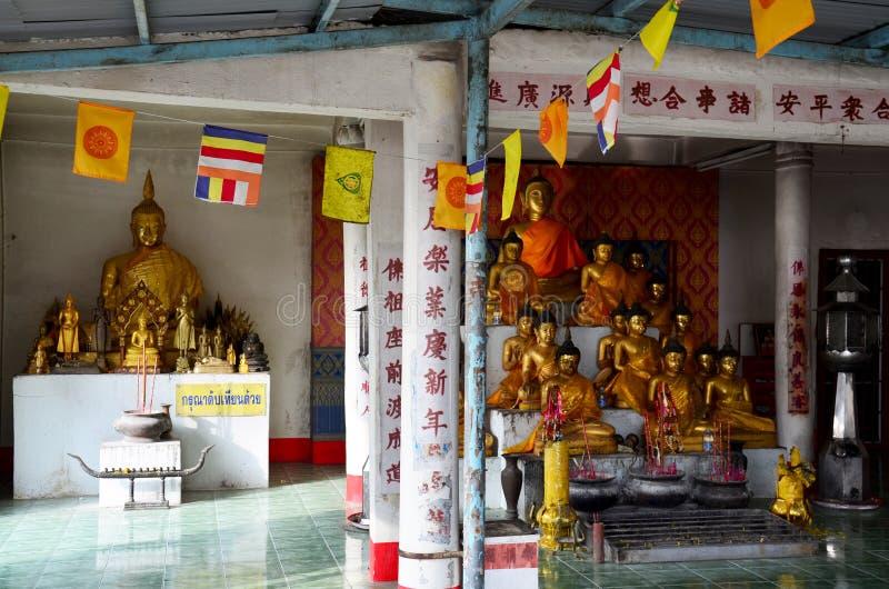 Wat Khao Wong Phra Chan στην κορυφή του βουνού σε Lopburi, Ταϊλάνδη στοκ εικόνες