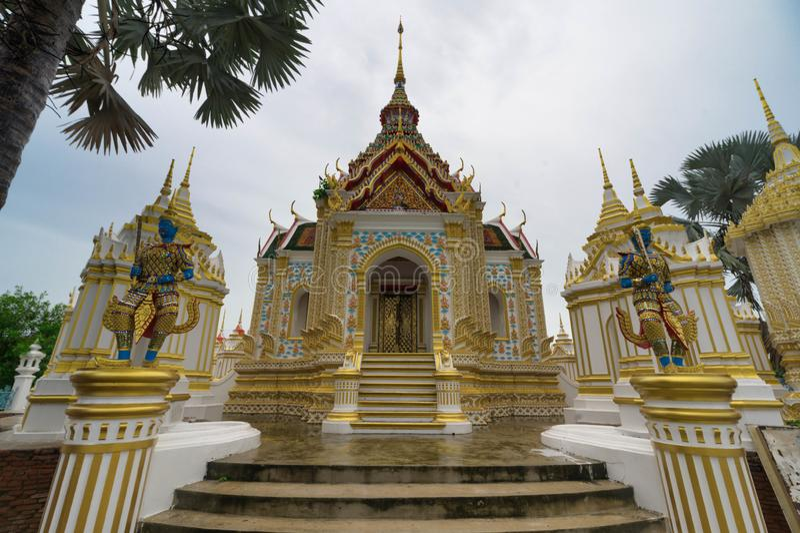 Wat Klang Bang Kaew, Nakhon Pathom, Thailand royaltyfria foton