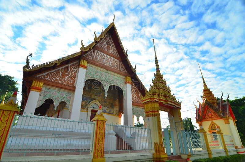 Wat Klang Ming Mueang at Roi Et, Thailand royalty free stock images