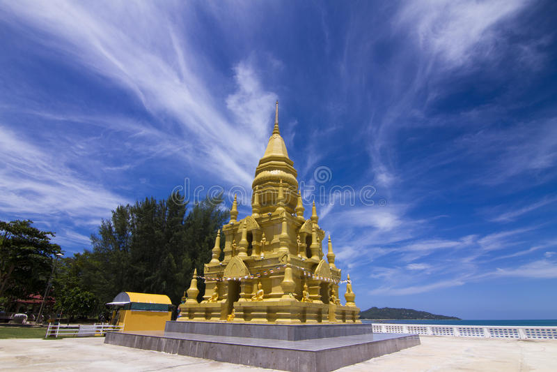 Download Wat in Koh Samui . stock image. Image of flag, prayer - 46663201