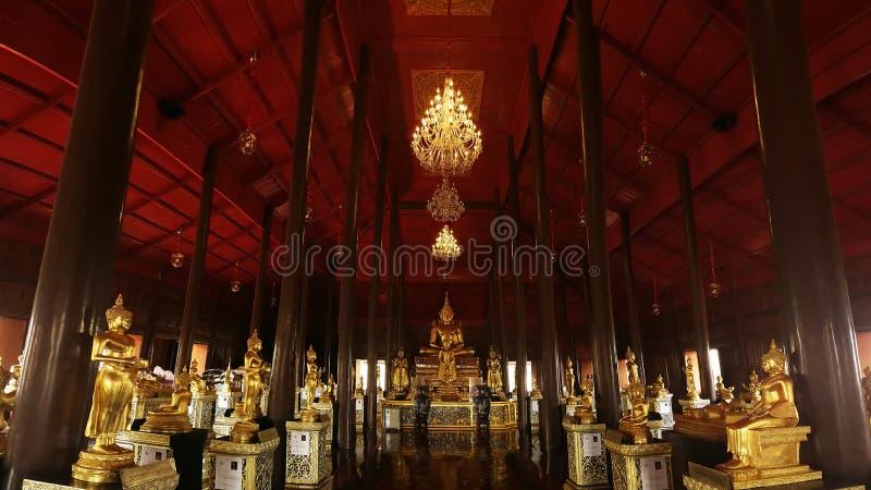 Wat Krathum Suea Pla temple ,Golden buddha temple in Thailand. stock photo