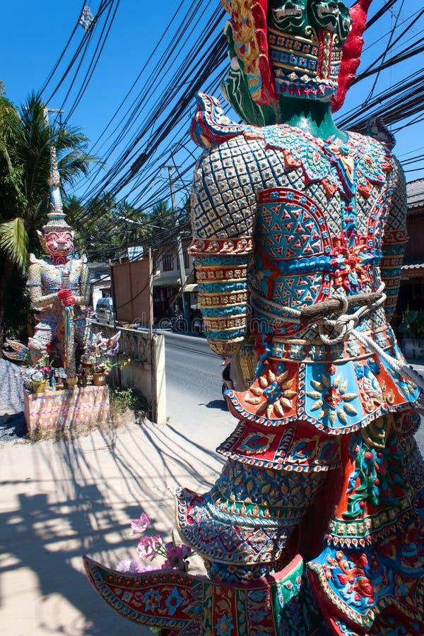 Wat Lamai e Corridoio culturale, Koh Samui, Tailandia immagini stock