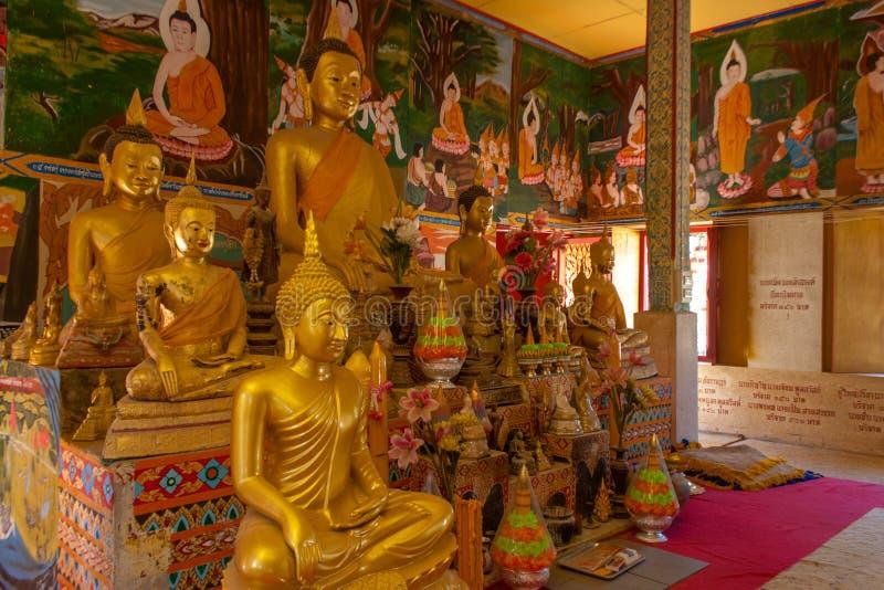 Wat Lamai e Corridoio culturale, Koh Samui, Tailandia fotografia stock
