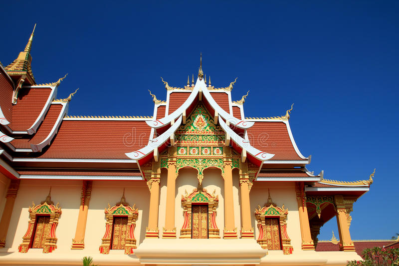 Download Wat Lao stock photo. Image of temple, buddhism, architecture - 17491742