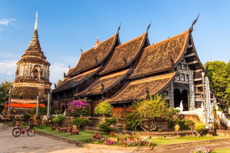 Wat Lok Molee Chiang Mai, nordliga Thailand fotografering för bildbyråer