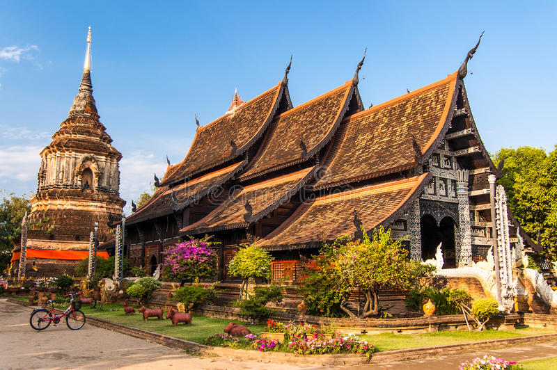 Wat Lok Molee, Chiang Mai, Tailandia del Nord immagine stock