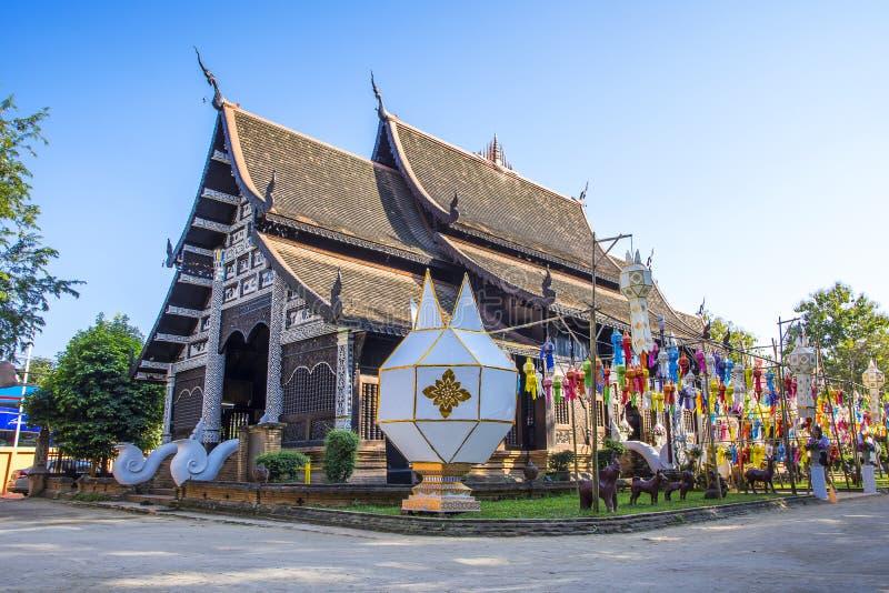 Wat Lok Molee Chiangmai, Thailand arkivfoton