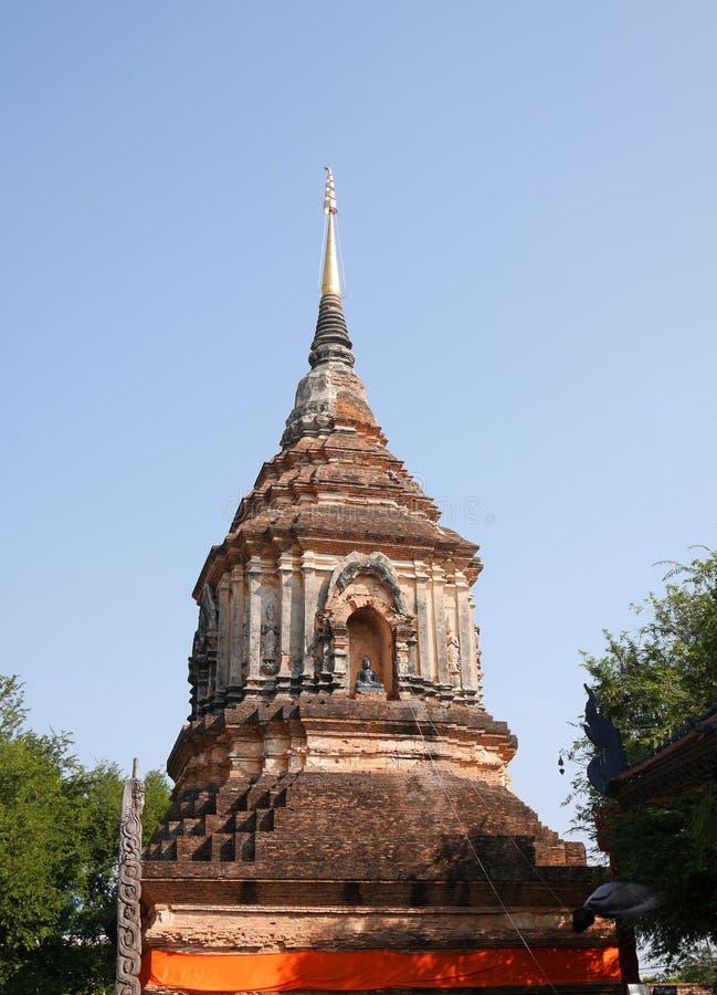 Wat Lok Molee tempel, Chiang Mai, Thailand royaltyfria foton