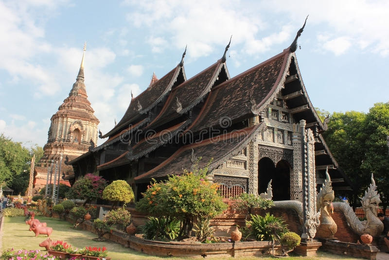 Wat Lok Moli, Chiang Mai Thailand royalty free stock photography