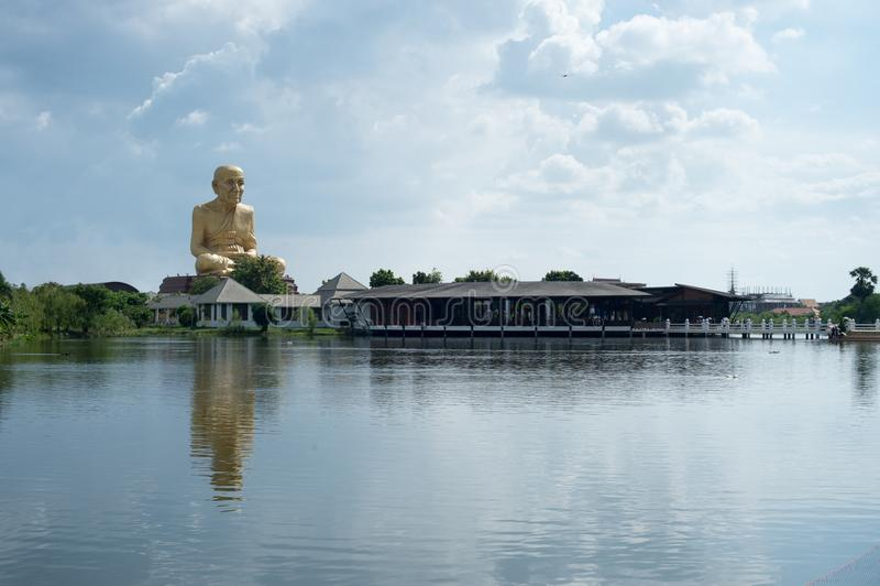 Wat Luangphu Thuord, histoire Bouddha de la Thaïlande photos stock