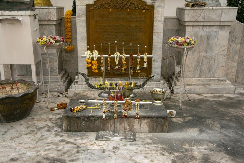Wat Mahannapharam Bangkok, Thailand royaltyfria foton