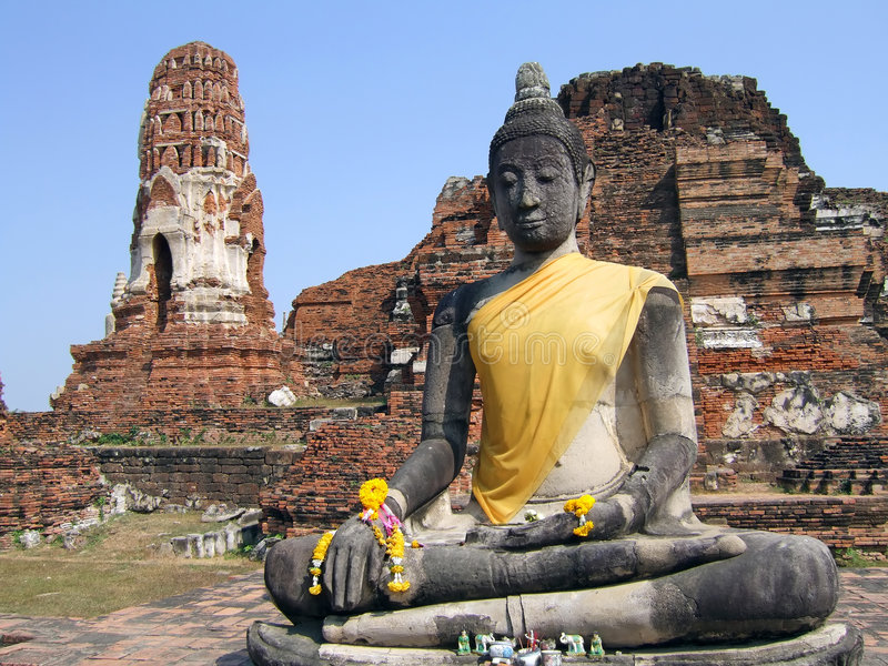 Wat Mahatat Buddha royalty free stock photo