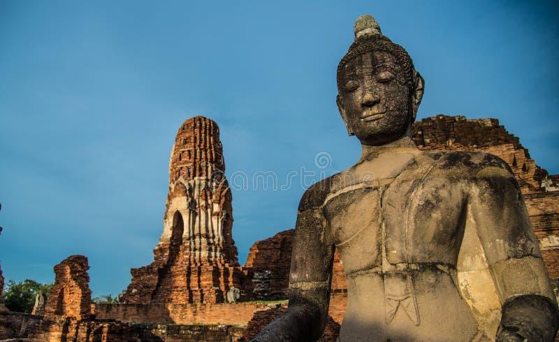 Wat Mahathat (świątynia Wielkie relikwie) obrazy royalty free