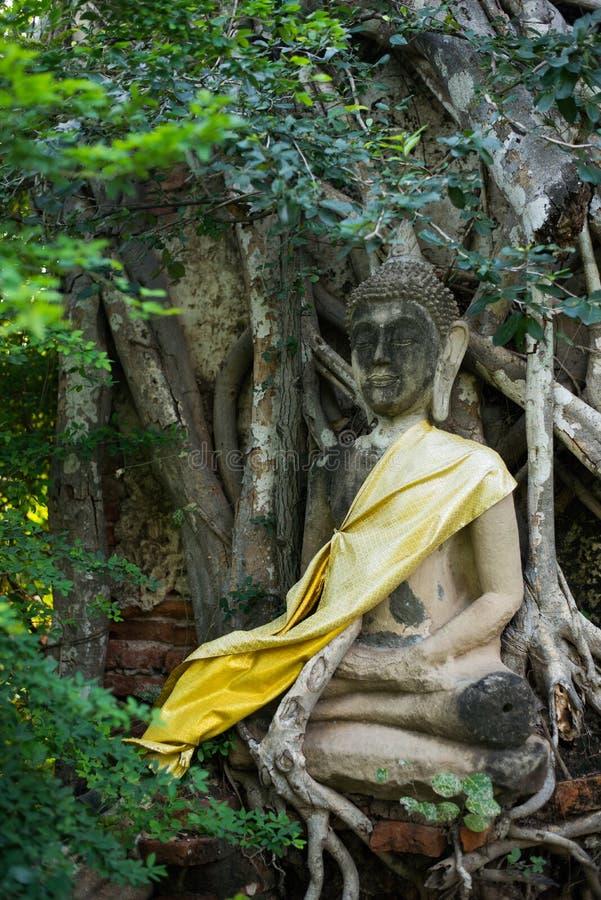 Wat Mahathat Ayutthaya De oude Siamese kunst en de cultuur royalty-vrije stock foto