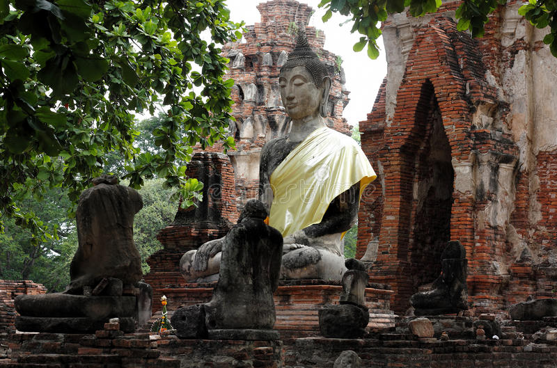 Wat Mahathat Ayutthaya Historical Park foto de archivo libre de regalías