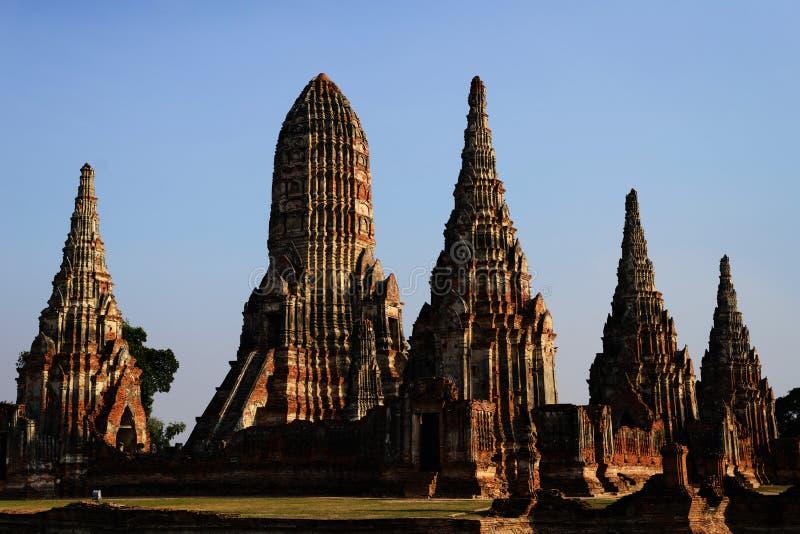 Wat Mahathat Ayutthaya Thailand lizenzfreie stockfotos