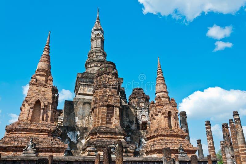 Wat Mahathat de Sukhothai, Thaïlande. photos libres de droits