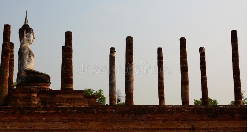 Wat Mahathat. Historical Park. Sukhothai. Thailand. The Sukhothai Historical Park covers the ruins of Sukhothai, literally Dawn of Happiness, capital of the royalty free stock photo