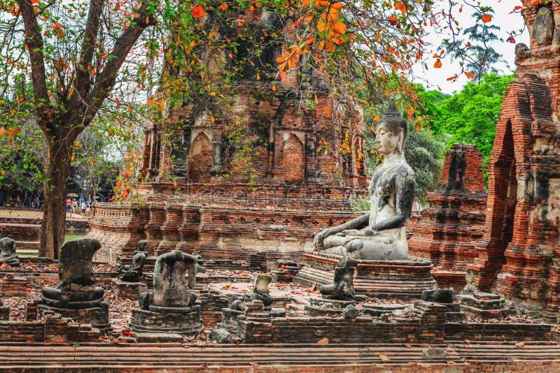 Download Wat Mahathat Im Komplex Des Buddhistischen Tempels In Ayutthaya Nahe Bangkok Thailand Stockfoto - Bild von fromm, berühmt: 90236854