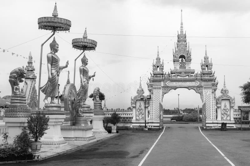 Wat Mahathat, le temple a été construit en l'année 607 par Phraya Maha Ammat, le chef d'armée de Vientiane , Nakhon Phanom, Thaïl images libres de droits