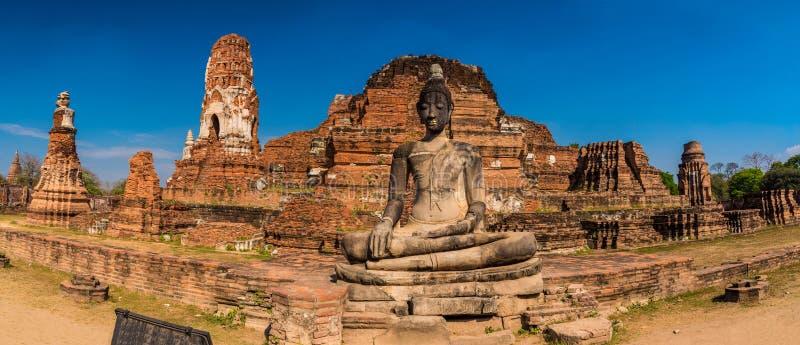 Wat Mahathat panorama royalty free stock photo