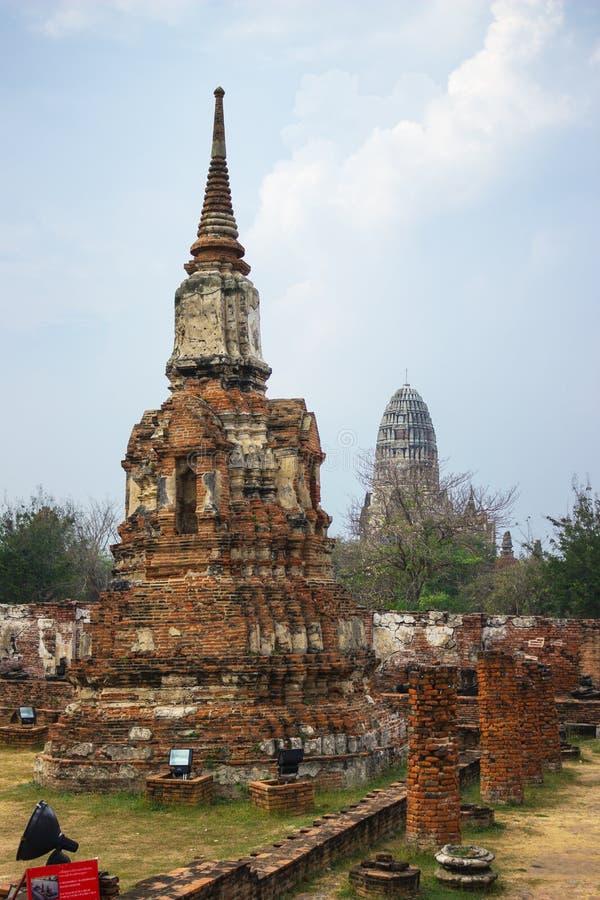 Wat Mahathat Parque histórico de Ayutthaya tailândia foto de stock