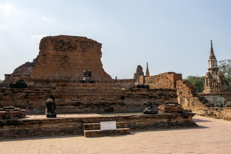 Wat Mahathat Prang imagen de archivo