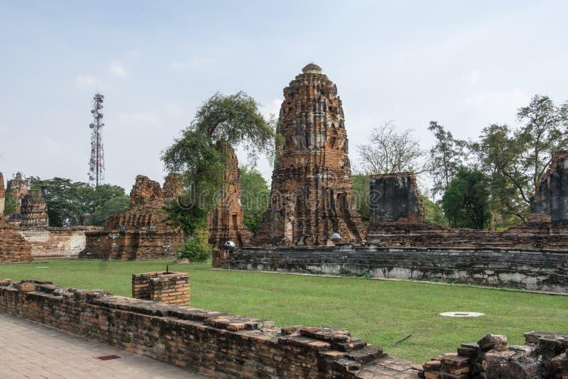 Wat Mahathat Prang fotografía de archivo libre de regalías