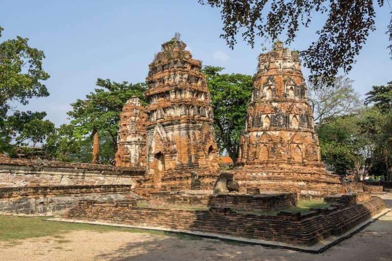 Wat Mahathat Prang foto de archivo libre de regalías