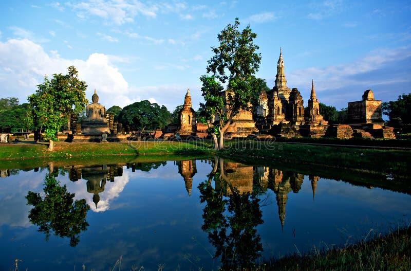 Wat Mahathat, Sukhothai, Thaïlande, photographie stock libre de droits