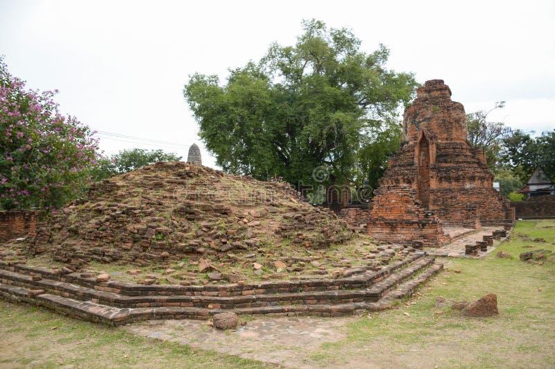 Wat Mahathat-Tempel lizenzfreie stockfotos