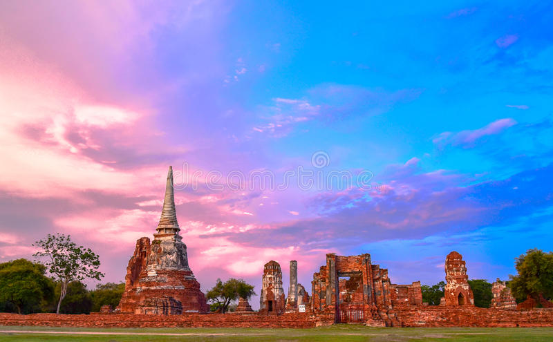 Wat Mahathat (Temple of the Great Relics). Is located almost right in the center of Ayutthaya. Apart from being the symbolic center where the Buddha's relics royalty free stock photos