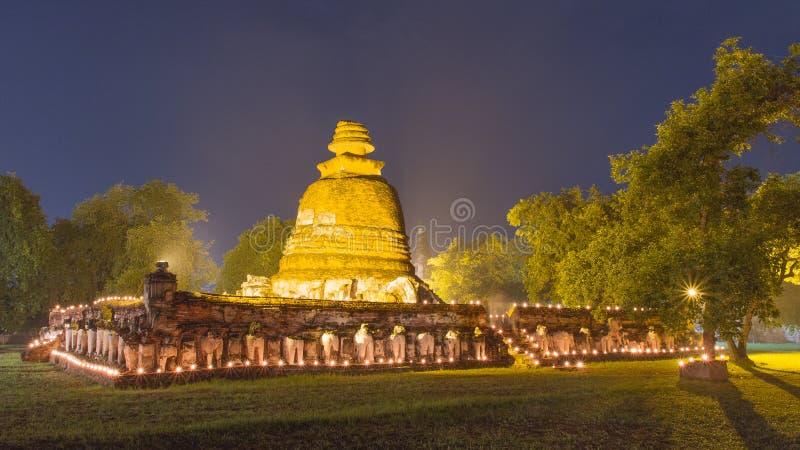 Wat Maheyong,阿尤特拉利夫雷斯,古老泰国 库存照片