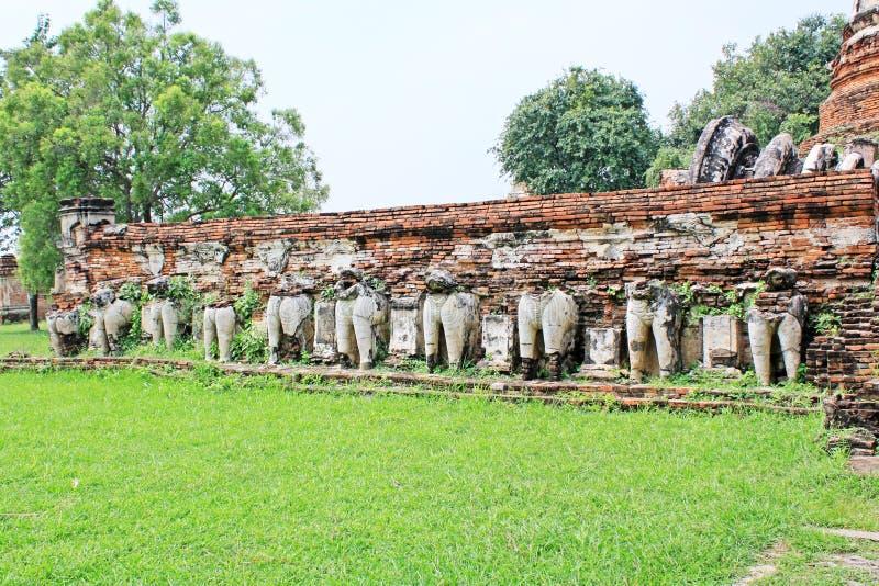 Wat Maheyong,阿尤特拉利夫雷斯,泰国 免版税库存照片