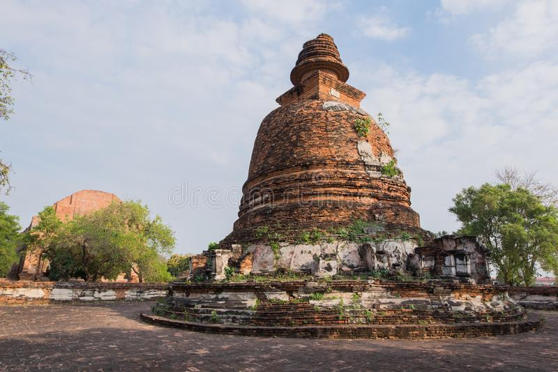 Wat Maheyong,阿尤特拉利夫雷斯, Phra洛坤Si A历史公园  库存照片