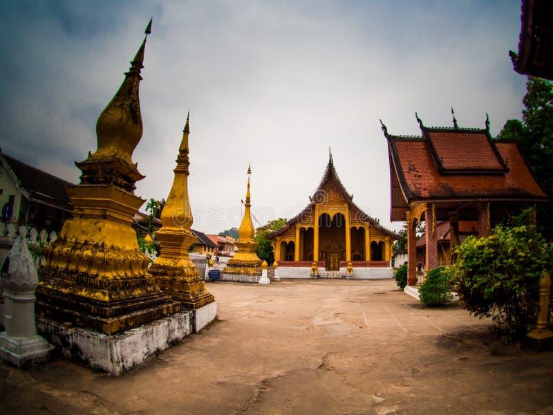 Wat Mai Souvannapoumaram in Luang Prabang, Laos, stato di eredità fotografia stock libera da diritti
