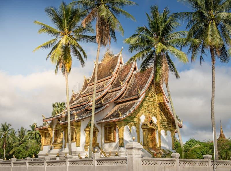 Wat Mai tempel och klosterluangprabang Laos royaltyfri fotografi