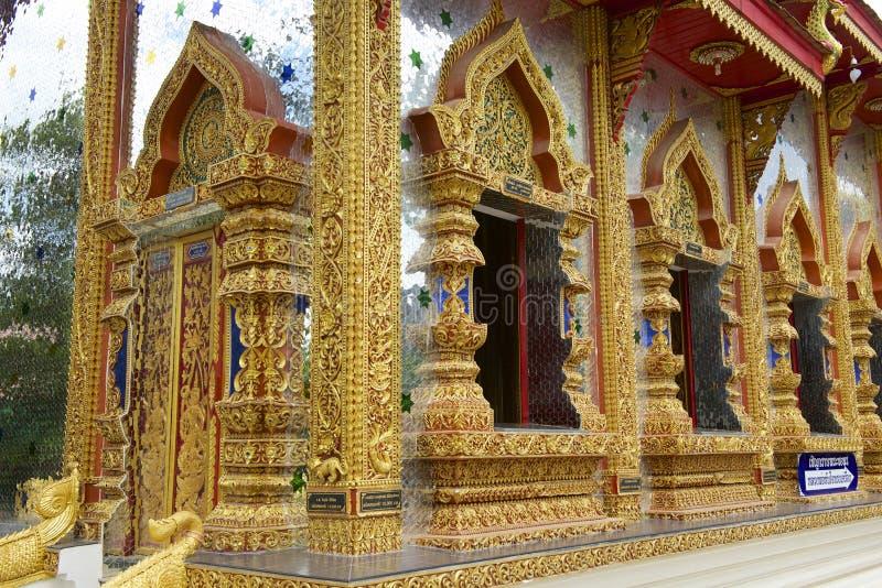 Wat Mani Phraison, Mae Sot, Tak-provincie, Thailand stock afbeelding