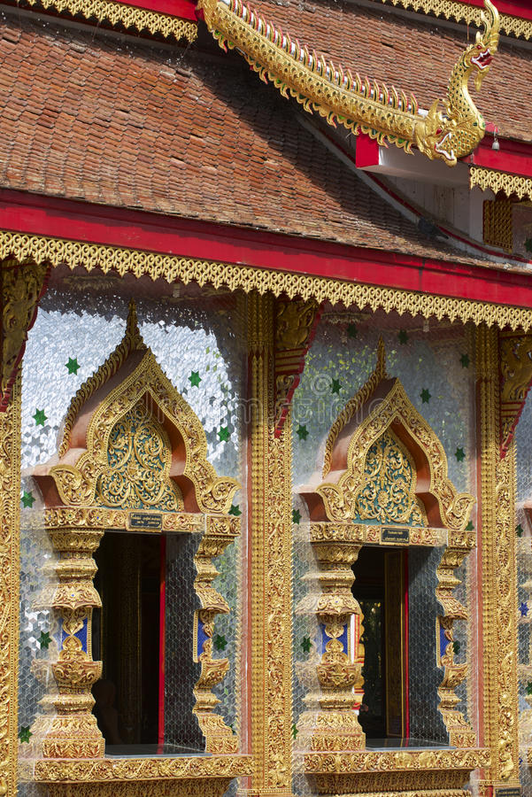 Wat Mani Phraison, Mae Sot, Tak-provincie, Thailand royalty-vrije stock afbeeldingen