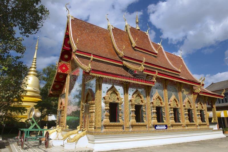 Wat Mani Phraison, Mae Sot, Tak-provincie, Thailand stock foto