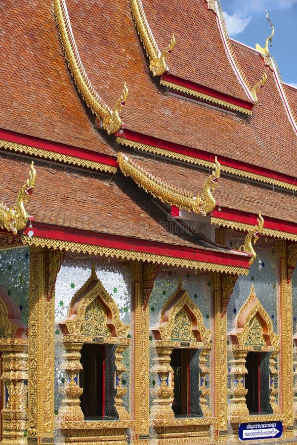 Wat Mani Phraison, Mae Sot, Tak-provincie, Thailand stock fotografie